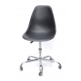 Кресло офисное Nik (Ник) хромированная база, пластик черный (04)