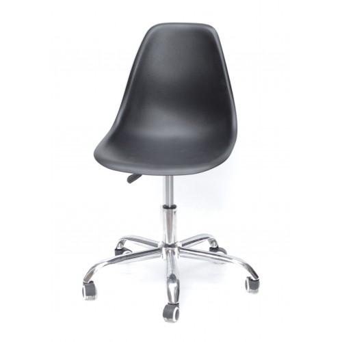 Купить Кресло офисное Nik (Ник) хромированная база, пластик черный (04)