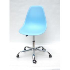 Кресло офисное Nik (Ник) хромированная база, пластик голубой (50)
