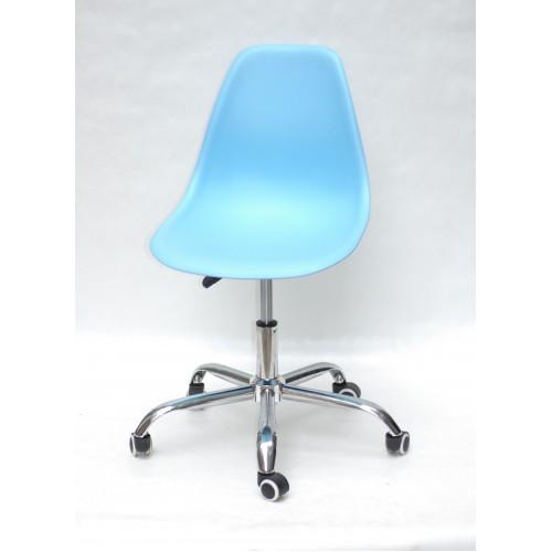 Купить Кресло офисное Nik (Ник) хромированная база, пластик голубой (50)