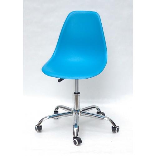 Купить Кресло офисное Nik (Ник) хромированная база, пластик голубой (51)