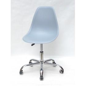 Кресло офисное Nik (Ник) хромированная база, пластик голубой (55)