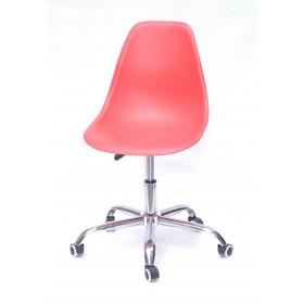 Кресло офисное Nik (Ник) хромированная база, пластик красный (05)