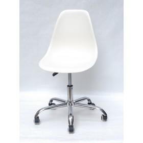 Кресло офисное Nik (Ник) хромированная база, пластик молочный (56)
