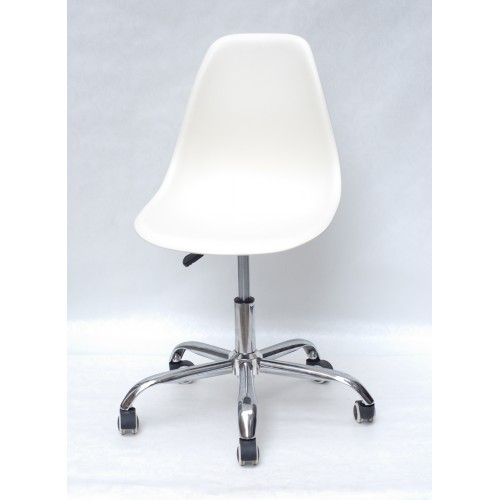 Купить Кресло офисное Nik (Ник) хромированная база, пластик молочный (56)