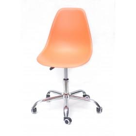 Кресло офисное Nik (Ник) хромированная база, пластик оранжевый (70)