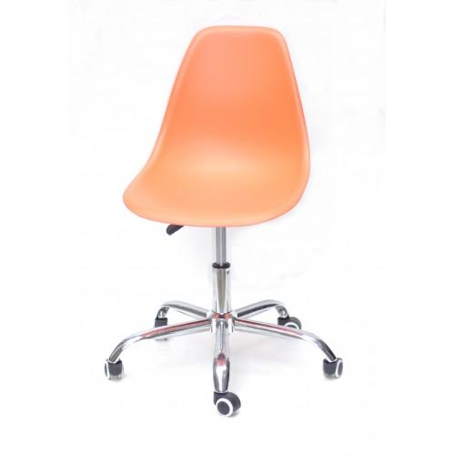 Купить Кресло офисное Nik (Ник) хромированная база, пластик оранжевый (70)