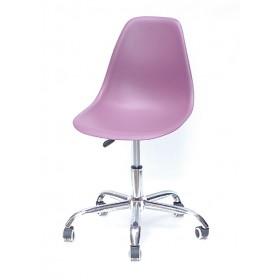 Кресло офисное Nik (Ник) хромированная база, пластик пурпурный (62)