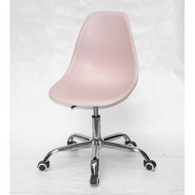 Кресло офисное Nik (Ник) хромированная база, пластик розовый (63)