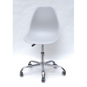 Кресло офисное Nik (Ник) хромированная база, пластик серый (10)