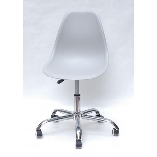 Купить Кресло офисное Nik (Ник) хромированная база, пластик серый (10)