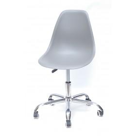 Кресло офисное Nik (Ник) хромированная база, пластик серый (16)