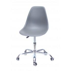 Кресло офисное Nik (Ник) хромированная база, пластик серый (21)