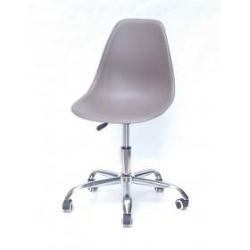 Кресло офисное Nik (Ник) хромированная база, пластик серый (23)