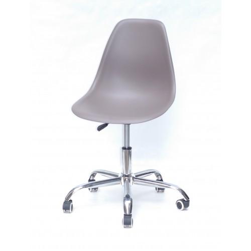 Купить Кресло офисное Nik (Ник) хромированная база, пластик серый (23)