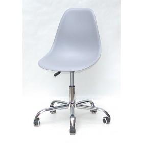 Кресло офисное Nik (Ник) хромированная база, пластик серый (35)