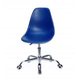 Кресло офисное Nik (Ник) хромированная база, пластик синий (54)