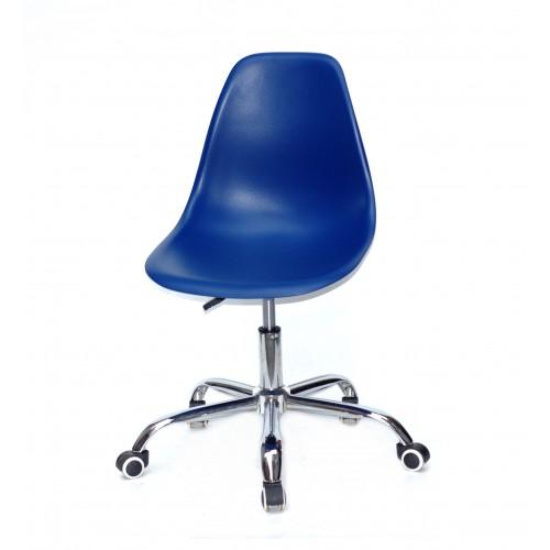 Купить Кресло офисное Nik (Ник) хромированная база, пластик синий (54)