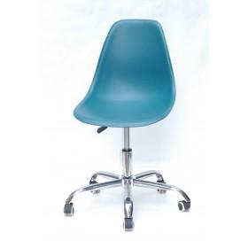 Кресло офисное Nik (Ник) хромированная база, пластик зеленый (02)
