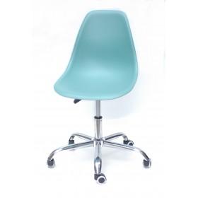 Кресло офисное Nik (Ник) хромированная база, пластик зеленый (40)