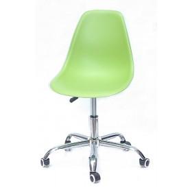 Кресло офисное Nik (Ник) хромированная база, пластик зеленый (41)