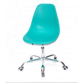 Кресло офисное Nik (Ник) хромированная база, пластик зеленый (42)