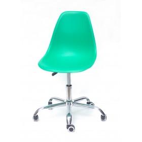 Кресло офисное Nik (Ник) хромированная база, пластик зеленый (47)