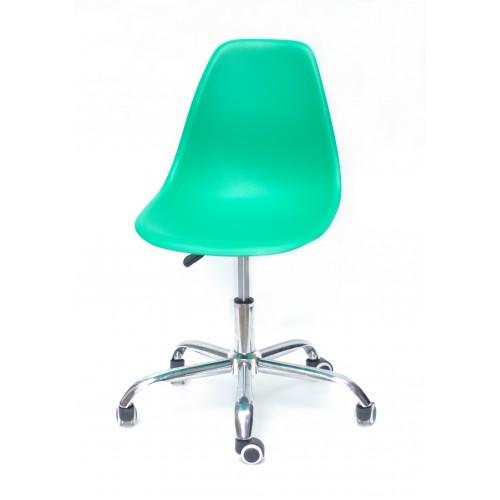 Купить Кресло офисное Nik (Ник) хромированная база, пластик зеленый (47)