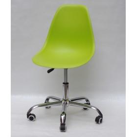 Кресло офисное Nik (Ник) хромированная база, пластик зеленый (48)