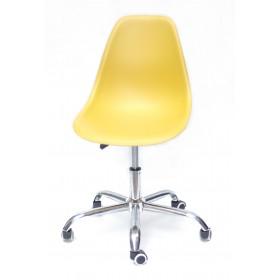 Кресло офисное Nik (Ник) хромированная база, пластик желтый (11)