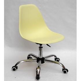 Кресло офисное Nik (Ник) хромированная база, пластик желтый (15)