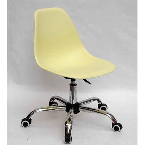 Купить Кресло офисное Nik (Ник) хромированная база, пластик желтый (15)