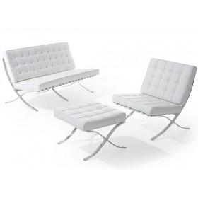 Диван Барселона 3-местный, кресло, оттоманка,  белый