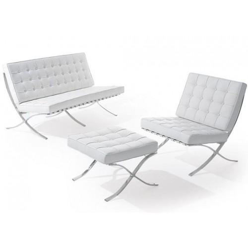 Купить Диван Барселона 2-местный, кресло, оттоманка,  белый