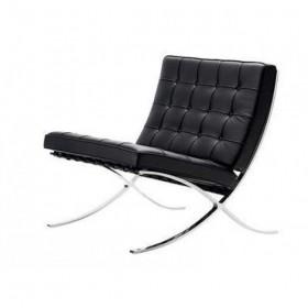 Кресло Барселона черное, экокожа