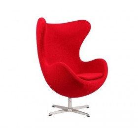 Кресло Эгг (Egg) красное, ткань