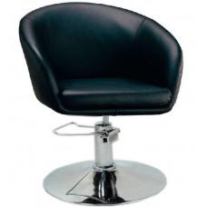 Кресло Мурат P парикмахерское черное, экокожа