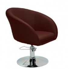 Кресло Мурат P парикмахерское коричневое, экокожа
