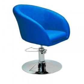 Кресло Мурат P парикмахерское синее, экокожа