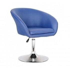Кресло Мурат синее, экокожа