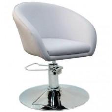 Кресло Мурат P парикмахерское белое, экокожа