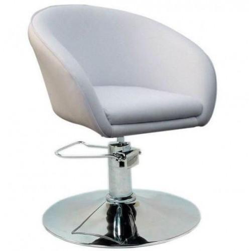 Купить Кресло Мурат P парикмахерское белое, экокожа