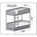 Купить Кровать Дуэт 900х2000 двухъярусная