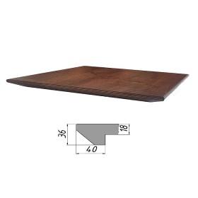 Столешница из многослойной фанеры, прямоугольная, обратный скос