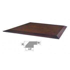 Столешница из многослойной фанеры, прямоугольная, скос