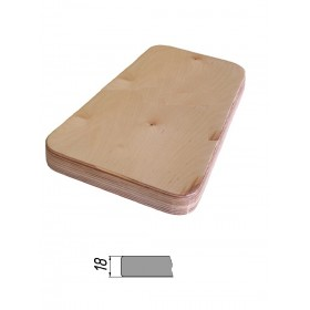 Столешница из многослойной фанеры, прямоугольная, закругленная 18 мм