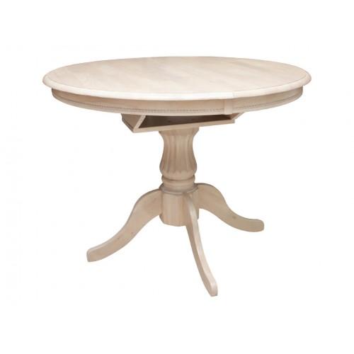 Купить Стол деревянный круглый Анжелика d1060+330х750h айвори лайт