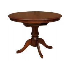 Стол деревянный круглый Анжелика d1060+330х750h каштан
