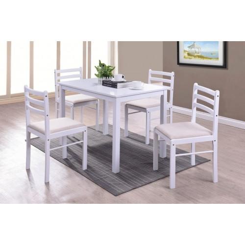 Купить Комплект Фиеста стол + 4 стула белый
