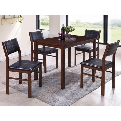 Купить Комплект Лорри стол + 4 стула шоколад/черный
